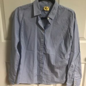Jcrew cotton striped button blouse-worn once